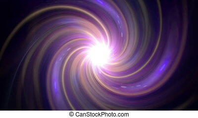 twirl of flare expose purple glow - The twirl is rotating...