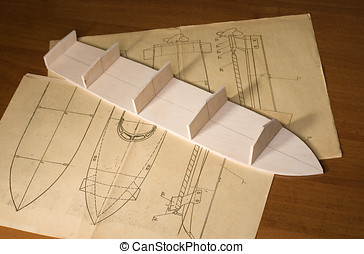 Ship scale model construction