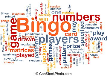 Bingo game background concept - Background concept wordcloud...