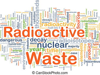 Radioactive waste background concept - Background concept...