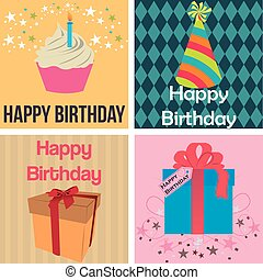 Birthday - Set of backgrounds with different birthday...