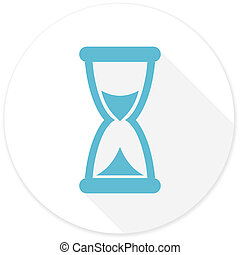 time flat design modern icon with long shadow for web and...