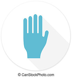 stop flat design modern icon with long shadow for web and...