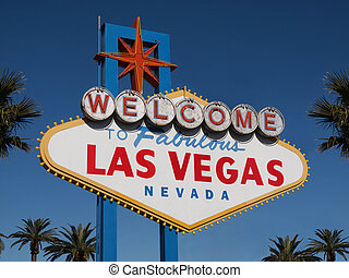 Welcome to Las Vegas - Historic Las Vegas Welcome sign with...