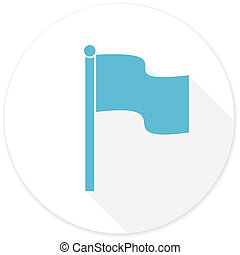 flag flat design modern icon with long shadow for web and...