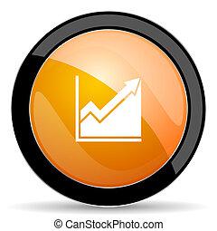 橙, 直方圖, 簽署, 股票, 圖象