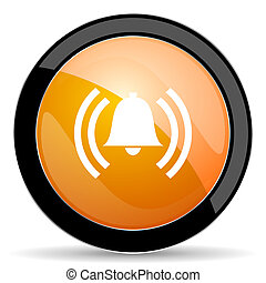 alarm orange icon alert sign bell symbol