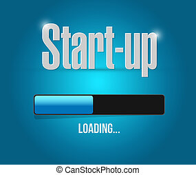 Start-up loading bar sign concept illustration design...