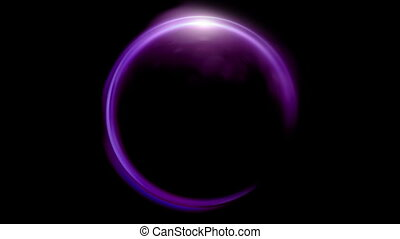 purple Lens ring flares crossing of circle shape