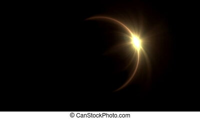Solar eclipse ring flare - The circle shape of ring lens...