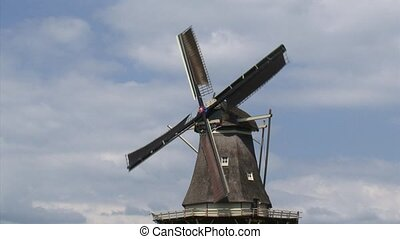 Dutch Windmill, gristmill in operation - Dutch Windmill in...