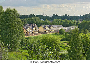 Construction of apartment buildings in rural locality -...