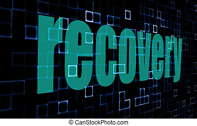 Pixelated words recovery on digital background image with...