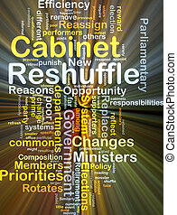 Cabinet reshuffle background concept glowing - Background...