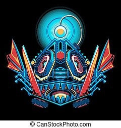 Mecha Robot Angler Fish - Illustration of Mecha Robot Angler...