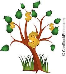 money tree vector illustration.