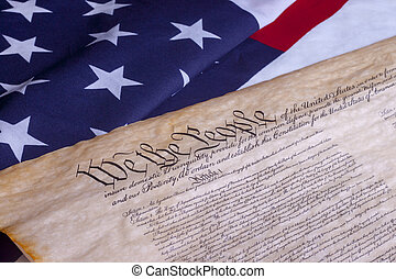 We The People US Constitution - American Constitution with...