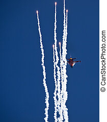 F-16 Fighting Falcon and Flares - F16 of the RNLAF Demoteam...