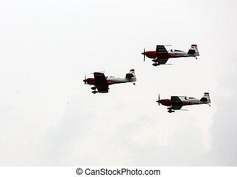Cracow - Air festival - KRAKOW, POLAND - JUNE 29: Flying...