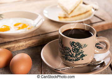 Malaysian Chinese coffee and breakfast - Traditional...
