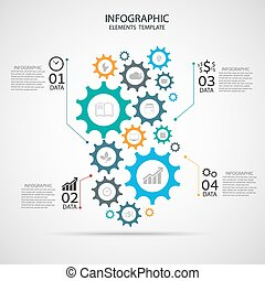 vector template Infographic  with g