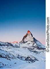 Matterhorn at Sunrise - Mattterhorn at sunrise, view from...