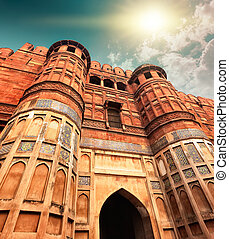 Agra Fort, Agra, Uttar Pradesh, India, Asia - Agra Fort, is...