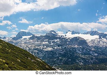 Dachstein Mountains - Dachstein mountains, in the foreground...