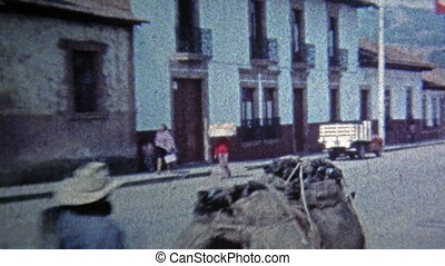 1974: Local townspeople carrying - Unique vintage 8mm film...