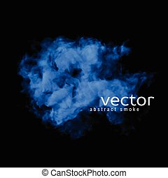 Vector illustration of blue smoke on black. Use it as an...