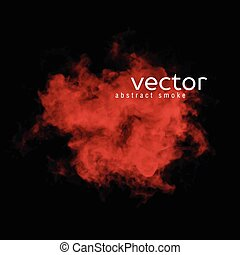 Vector illustration of red smoke on black. Use it as an...