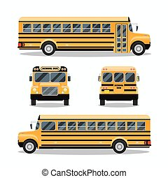 School bus. Transportation and vehicle transport, travel...