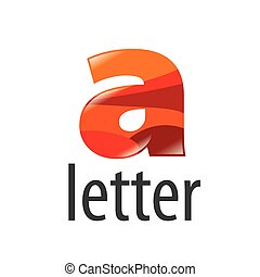 vector logo colored letter A with highlights