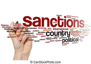 Sanctions word cloud - Sanctions concept word cloud...
