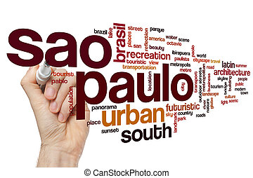 Sao Paulo word cloud concept