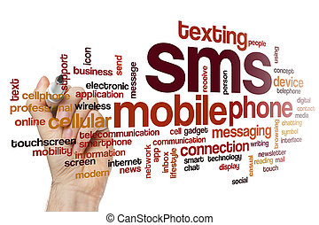 SMS word cloud concept