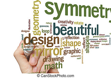 Beautiful symmetry word cloud