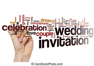 Wedding invitation word cloud - Wedding invitation concept...