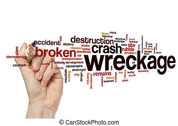 Wreckage word cloud concept - Wreckage word cloud