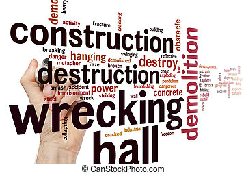 Wrecking ball word cloud - Wrecking ball concept word cloud...