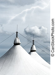 circus tent - white circus tent with amazing cloudy sky