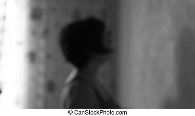 Depression Silhouette Woman. Despai - Medical Depression...