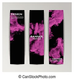 Template of banner with abstract smoky shapes - Vector...