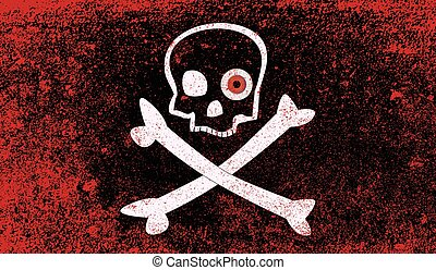 Jolly Roger With Eyeballs - A typical skull and crossbones...