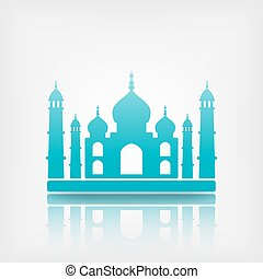 Taj Mahal on white background. vector illustration - eps 10