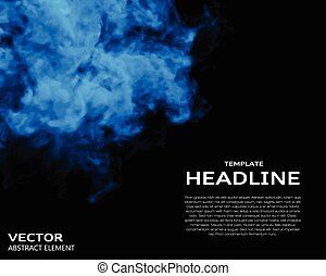 Vector illustration of smoke elements on black. Use it as a...