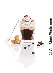 Viennese coffee Espresso coffee topped with whipped cream...