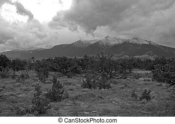 Thunderstorms over Mount Princeton