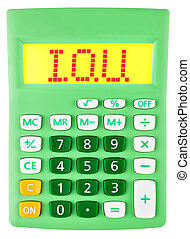 Calculator with I.O.U. on display isolated on white...