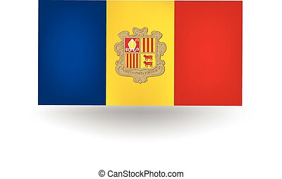 Andorra Flag - Official flag of Andorra.